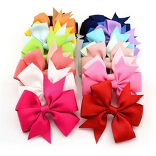 1PCS Lovely Headband Solid Girl Headwear Bow Hairpin For Girls,Hair Band For Kids Claws DIY Bowknot Headwear Hair Accessories(China)