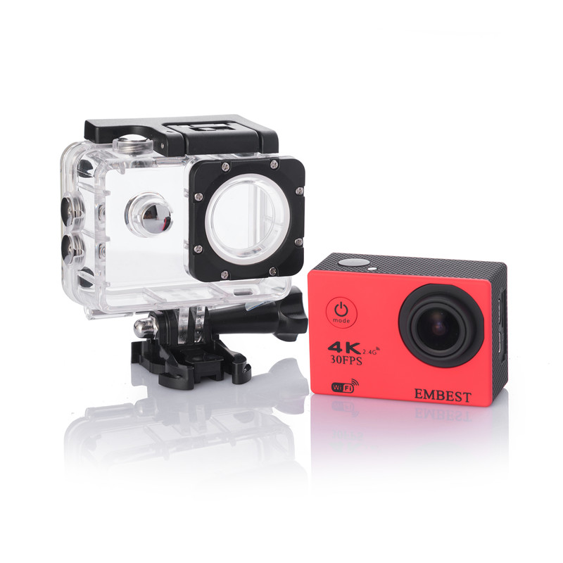 EMBEST 4K WIFI Sports Action Camera With Remote Control Ultra HD Waterproof Underwater 30M Camcorder 16MP 170 Degree Wide Angle 5