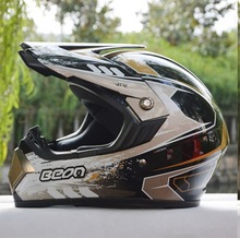 ECE  lightweight BEON B-600 black gold motocross Helmet, motorcycle MOTO electric bicycle safety headpiece