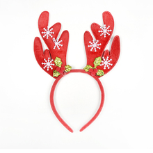 TANGLING Christmas Hair Band Christmas Deer Ears Children Bell Red Antler Head Buckle Gifts Party Decoration(China)