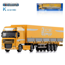 KDW 1:50 Alloy Cloak Type Separation Transport Vehicle Container Enclosed Trailer Truck Toys Children's Favorite Toy Car Gift