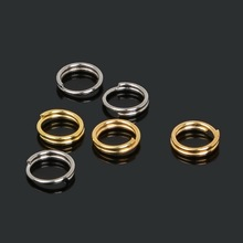 6mm 660pcs/bag wholesale Gold/Rhodium/Bronze Tone Jump Rings for DIY Jewelry Making Findings Wholesale