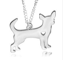 1pcs Silver Gold Color Husky Puppy Heart Dog Cat Necklace Pet Lover Paw Print Memorial Tag Necklaces Pendants Women Family Gift