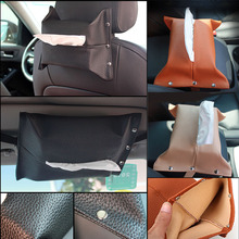 New Motors Car Visor Leather Tissue Box Paper Towel Case Cover Creative