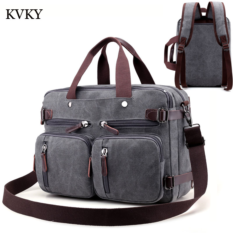 Mens bag handbag Shoulder messenger bags canvas bags designer Multifunction high quality Laptop Tote crossbody briefcase bag<br>