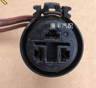 1PCS FOR Automotive engine regulator plug generator connector large 3P connector USED<br>