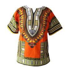 2016 XXXL PLUS SIZE African Fashion Dashiki Design Floral Dress African Traditional Print Dashiki Dress for Men and Women(China)