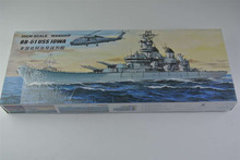 30CM Warship World War II BB-61 USS 10WA Iowa Class Battleship Plastic Assembly Model Electric Toy XC80906