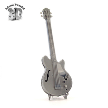 3D Metal Puzzles Miniature Musical Instruments DIY Jigsaws Musical Model Gift Rock Beth Bass Guitar(China)