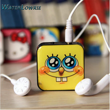Waterlowrie Fashion Sport MP3 Hello Kitty mp3 Minions mp3 Music Player Support 8G TF Card Mini  MP 3 Player usb mp3 for Gift
