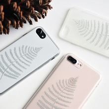 2017 New Luxury A Bodhi Leaf for iphone Case 6 Transparent and White High Grade Brand Clear TPU Art Shell for iphone Case 7 Plus(China)