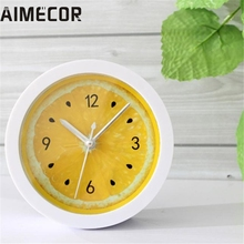 My House  New Colorful Round Shape Mini Quartz Desktop Plastic Needle Alarm Clock  2017 New Hot Sell 17Mar9