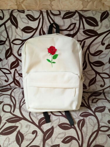 rose canvas backpack women bag men  (6)