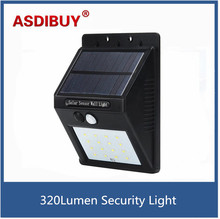 Solar Motion Sensor Light Wall Lamp Outdoor Lighting Waterproof Detector Activated security light Garden Yard Deck Lawn Porch