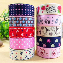DIY Kawaii Fabric Cloth Masking Tape Sweet Strawberry Eiffel Tower Dot Decorative Tapes for Home Decoration Free shipping 107(China)