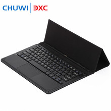 For CHUWI VI10 PLUS / HI10 PLUS PU Leather Keyboard Case Magnetic Docking With Foldable Stand Function Ideal for Playing Games