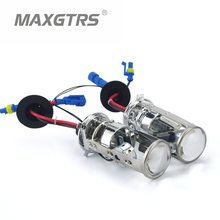 2x 55W H4 LHD/RHD Bi-Xenon Bulbs Lossless HID Bulb Light Lamp Hi/Lo Beam Headlight with Mini Projector Lens 4300K 6000K