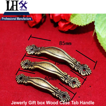 LHX Christmas Supplier 4pcs Jewerly Box Handle Tab 3 Size for Drawer Cabinet Gift Box Knob Decorative DIY Furniture Hardware i