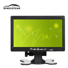 Desktop high-definition 7 inch TFT LCD Color Monitor  Car Rear View Headrest DVD VCR Monitor 2 video AE car display