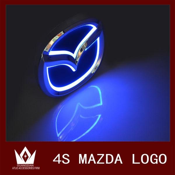 Guang Dian 12cmx 9.55cm car LED badge light, car emblem led logo Fit for Mazda CX7 For mazda 8 logo white blue red color<br><br>Aliexpress