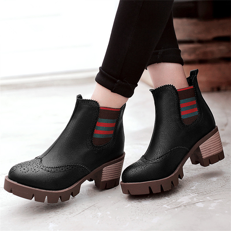 plus size 34-43 autumn winter Fashion women Ankle Boots Casual warm snow boots breathable Europe star fashion Platform Shoes<br><br>Aliexpress