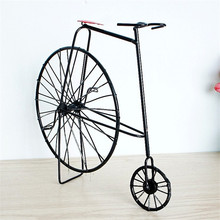 2017 Vintage Iron Bicycle Model Antique Bike Car Decorative Miniaturas House Novelty Craft Home Decoration Accessories(China)