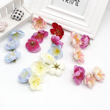 10 pcs Cheap Artificial Cherry Blossom Wedding DIY Garland Material Bride Headdress Home Decorative Flower Scrapbook