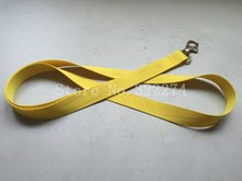 5pcs/lot  Blank polyester Yellow Neck strap lanyard for ID card  Cell Phone Lanyard Neck Strap 0.7mm thick with/Lobster Clasp