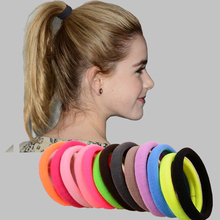 Fashion 10pcs/lot Big Size Candy Colored Quality Elastic Ponytail Holders Accessories Girl Women Rubber Bands Tie Gum(Mix Color)(China)