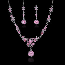 2015 new design wedding Jewelry Necklace and earrings Wedding Dress Accessories Costume Jewelry Sets Crystal Jewelry Sets