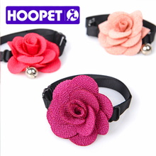 HOOPET Adjustable Rose Flower Colorful Necklace For Dog Cat Accessories Beauty Lovely