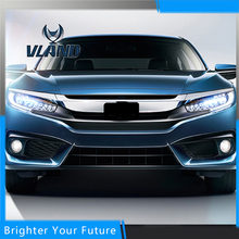 2pcs Car Styling Head Lamp for HONDA CIVIC Headlights DRL Daytime Running Light Bi-Xenon Lens HID Accessories(China)