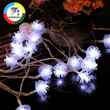 Coversage 5M 50 Leds Christmas Tree Decoration Fairy Battery Garland Flower String Lights Outdoor Indoor Curtain Luces Navidad(China)