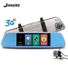 "Jansite 7"" Touch Screen 3G Car Camera DVRS Android 5.0 GPS Navigation Dual Lens Rearview Mirror Video Recorder Full HD 1080P DVR(China)"