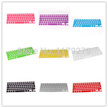 New EURO Version English letter 11 colors Silicone Keyboard Cover skin For Macbook Air Pro Retina 13/15/17 EU keyboard Layout