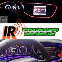 Wireless IR Control Car Interior Ambient 16 Color changing Light DIY Instrument Dashboard Light For HONDA Insight ZE HYBRID