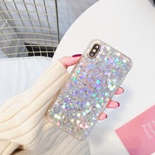 Buy Hexagon Sequins Glitter Bling Phone Case iPhone 6 6s Plus 7 7plus 8 8plus X Luxury Girls Fashion Soft Back Cover Case Capa for $2.39 in AliExpress store