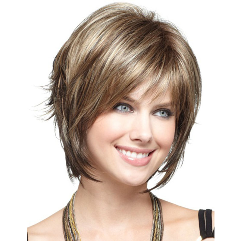 Hot Sale Heat Resistant Synthetic Wigs For Women Small Cap Natural Looking African American Wigs Short Brown Wigs For Women<br><br>Aliexpress