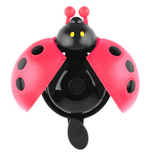 Hot ! Lovely Kid Beetle Ladybug Ring Bell For Cycling Bicycle Bike Ride Horn Alarm