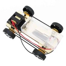 arrival Self assembly DIY Mini Battery Powered Wooden Car Model Children Educational Toy Boy Gift Game Funny Worldwide sale(China)