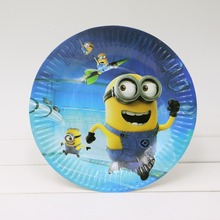 1bag 30 pieces 7 inch Lovely Paper Plate Minions for Valentine Birthday wedding favors and gifts Party decoration Party Supplies
