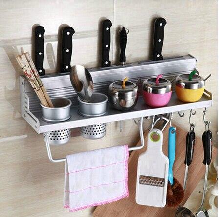 Kitchen shelf rack wall shelf with 2 cups 40cm Storage Rack sauce bottle Spice Tool Holder for kitchen Seasoning Sooktops shelf<br>