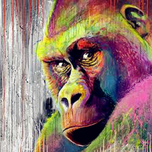 Diy Diamond Embroidery Gorilla Monkey 5D Diamond Painting Cross Stitch Animal Square Rhinestone Full Diamond Mosaic Home Decor(China)