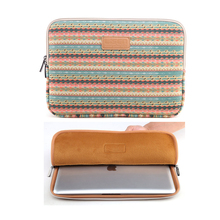 "Canvas 11 13 14 1515.6 inch Laptop Bag Notebook PC funda Sleeve Case Pouch for woman for hp macbook Air Pro sony 11.6"" 13.3""(China)"
