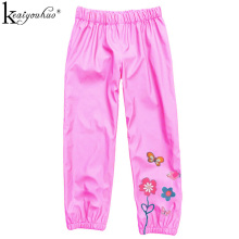2017 Spring Children Rain Pants High Quality Rain Pants For Kids Clothing Flowers Baby Girls Clothes Casual Girls Pants Leggings