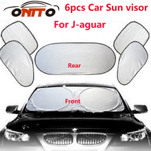 For XJ XF XK X-TYPE 6pcs/set Car sun visor sunscreen insulation curtain block light Front/Rear shade anti UV windshield windows