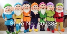 Full Set Seven Dwarfs Mascot Costume 7pcs/lot Free Shipping