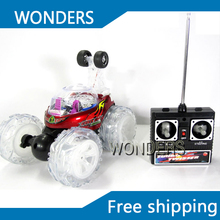 Rechargeable dump trucks Dancer RC Stunt Car tumble car 360 degree rotation with music(China)