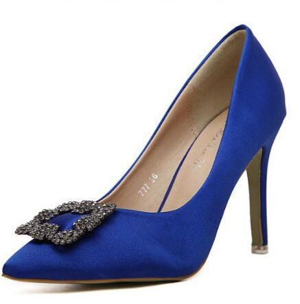 2017 New Arrival Shoes Size 4~8 Elegant Crystal Blue Women Pumps Mesh Wedding Shoes High Heel Women Shoes zapatos mujer<br><br>Aliexpress