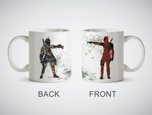 Star Wars Deadpool vs Boba Fett Mug cup milk beer cups procelain tea cup ceramic coffee mugs tea mugs drinkware(China)